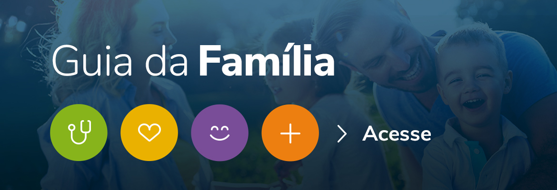 Imagem com link para o guia da familia